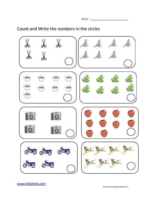 Counting Worksheets Preschool  Counting Worksheetsfree Preschool Practice Math Worksheetskidz