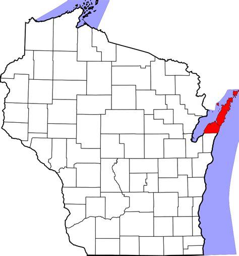 map of door county wi file map of wisconsin highlighting door county svg