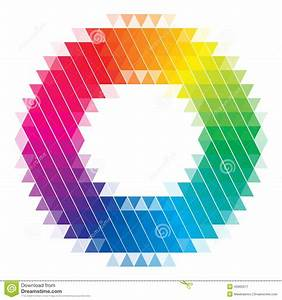 Color Wheel    Color Chart With Blended  Faded Circles For