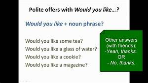 Lesson 63 - Would you like...? (polite requests and ...