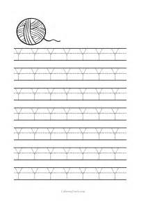 Free Printable Tracing Worksheets Preschool Letter Y