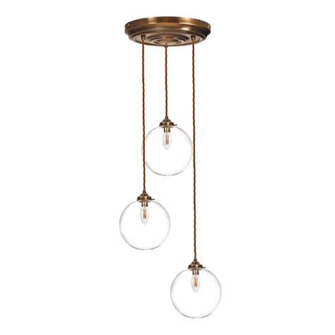 Holborn Multi Pendant Light   Classic   Brass   Glass