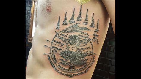 thai tattoo sak yant hanuman hand poke bamboo style