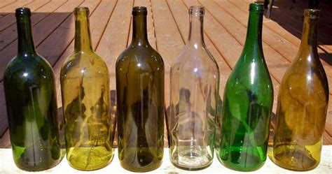 1 5 liter magnum empty wine bottle lot of 6 bordeaux burgundy yellow