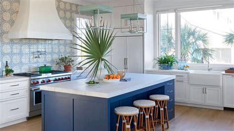 Kitchen Mosaic Backsplash Ideas - 11 beautiful blue kitchens coastal living