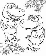 Dinosaur Coloring Pages Train Cartoon Print Tv sketch template