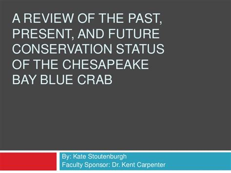 05373 Chesapeake Bay Coupons by The Past Present And Future Conservation Status Of The