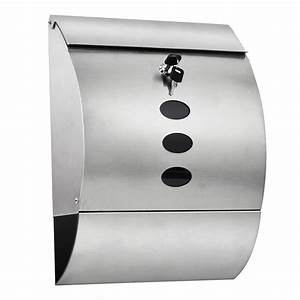 waterproof stainless steel lockable mailbox newspaper With letter mailbox