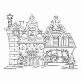 Factory Cookie Coloring Christmas sketch template