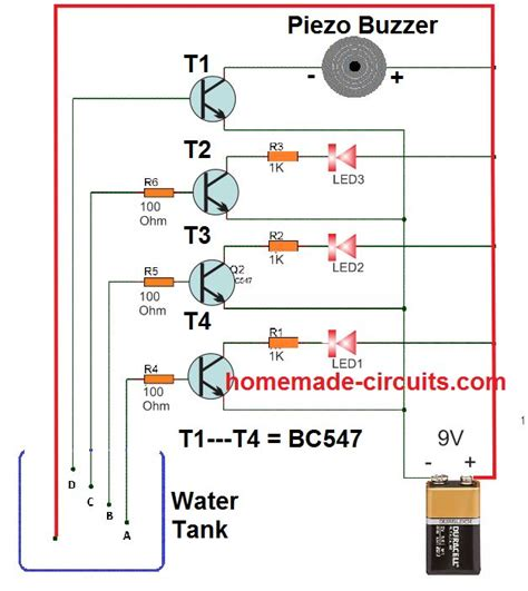 Simple Water Level Indicator Circuits With Images