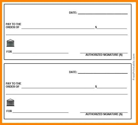 blank check templates for excel 5 free printable checks hold myhand