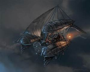 ArtStation - Steampunk Flying Ships (2006 Personal project ...