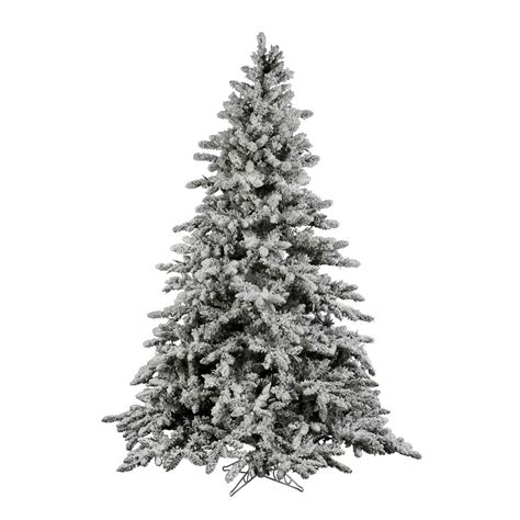 12 foot flocked utica fir christmas tree unlit a895190
