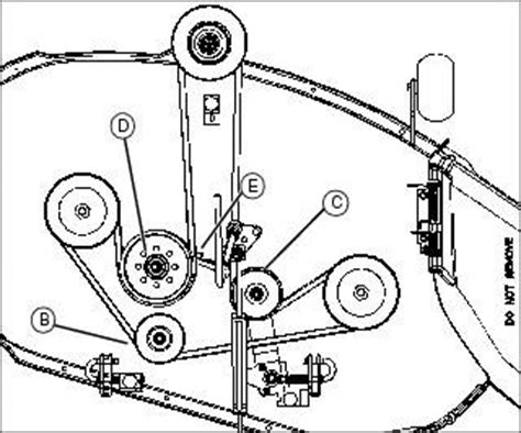 deere l110 mower deck belt routing deere l110 deck belt diagram