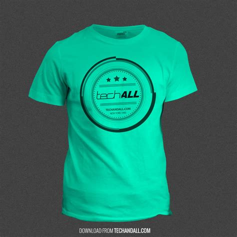 Set of colored shirt mockup in front view and back view for baseball, soccer, football , sportswear or casual wear. T-Shirt Mockup using SmartObject .PSD - Tech & ALL