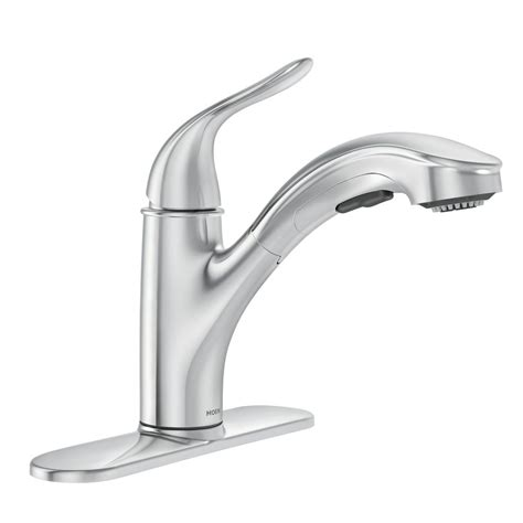 Moen Pull Kitchen Faucet by Moen Brecklyn Single Handle Pull Out Sprayer Kitchen