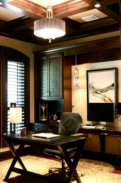 contemporary masculine home contemporary home office dallas by connell interiors