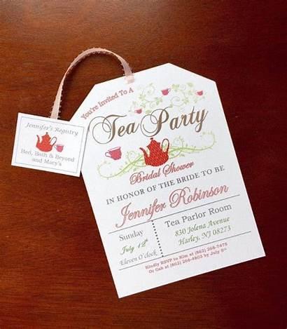 Tea Invitations Party Bridal Printable Shower Invitation