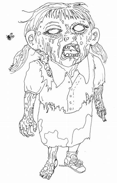 Coloring Zombie Pages Ugly Cartoon Adult Printable
