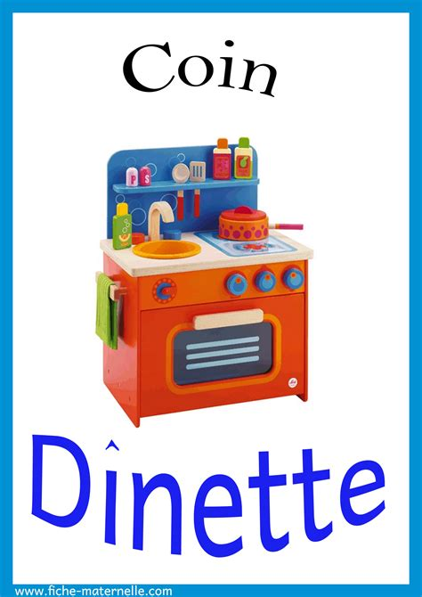 cuisine classe etiquettes des coins de la classe affichage