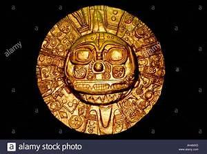 ancient original golden relic from the inca era depicting ...