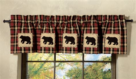 concord bear lined valance