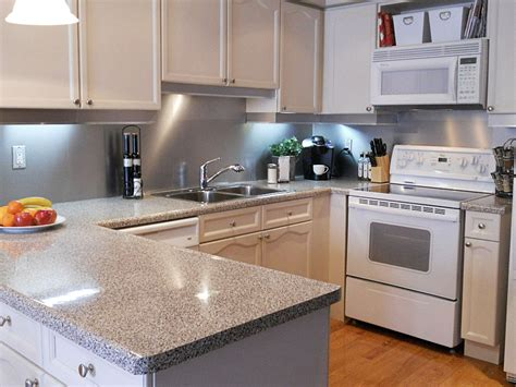 kitchen with stainless steel backsplash stainless steel solution for your kitchen backsplash inspirationseek com