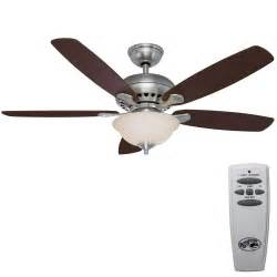 hton bay southwind 52 in brushed nickel ceiling fan 52379 the home depot