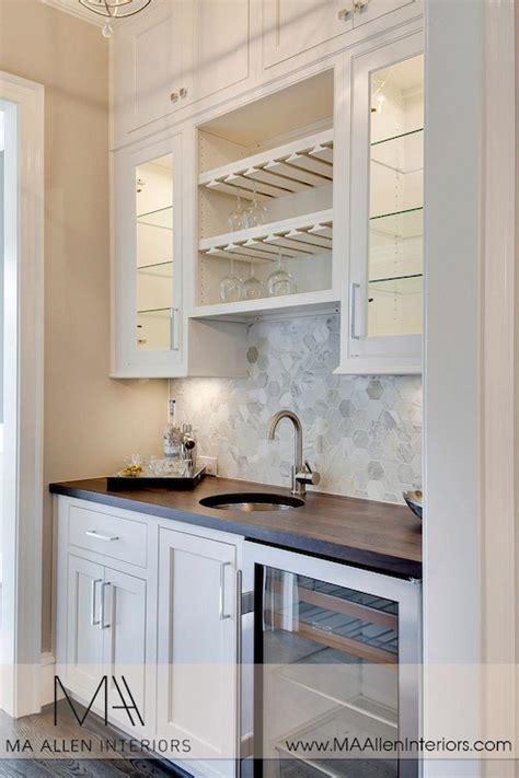 marble hex tile backsplash transitional kitchen ma