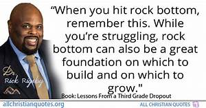 Rick Rigsby Quo... Rock Foundation Quotes
