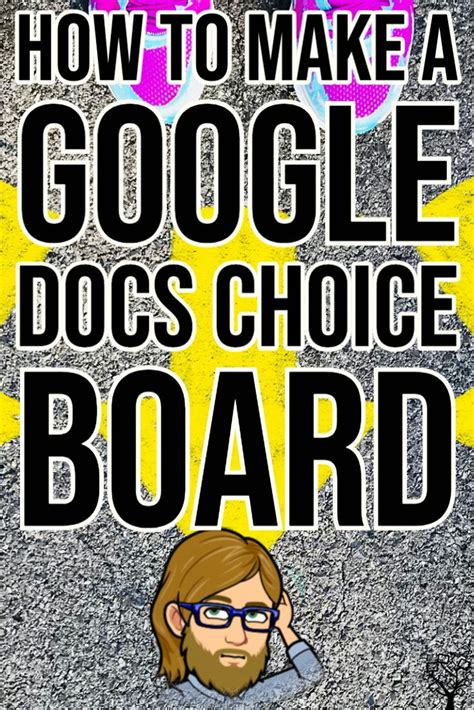 How to Make a Google Docs Choice Board 👀 | Digital ...