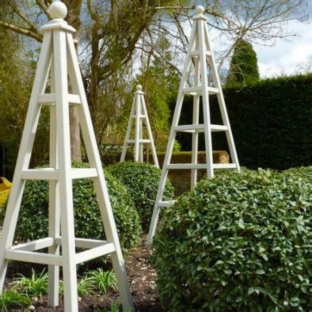 wooden garden obelisks   bird