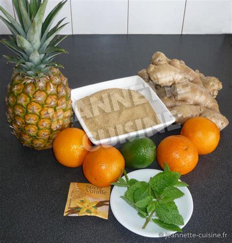 cuisine gingembre jus de gingembre boisson jeannette cuisine