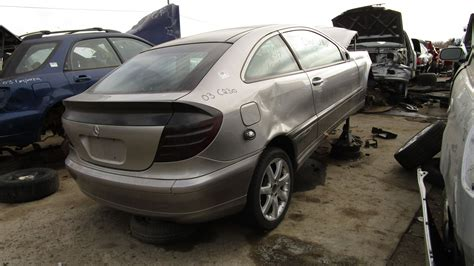 mercedes w203 coupe junkyard find 2003 mercedes c230 kompressor sport coupe the about cars