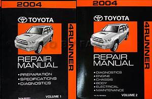 2004 Toyota 4runner Repair Diagnosis Manual Volume 1 Only