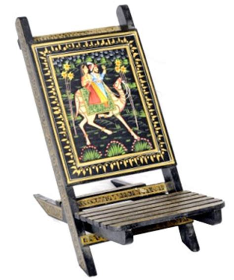 adorable large wooden chair rajasthani painting india