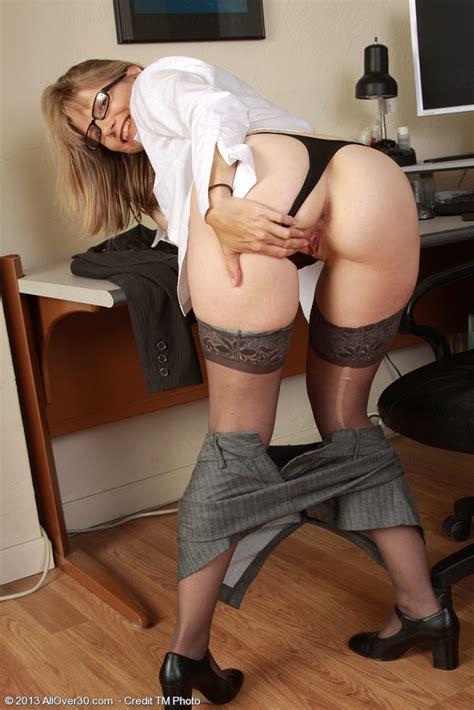 Sexy MILF Secretary Lexa Mayfair Tease And Undress MILF Fox