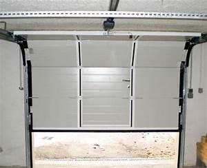 porte de garage sectionnelle refoulement plafond With porte de garage sectionnelle crawford