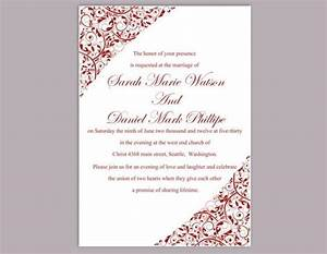 diy wedding invitation template editable word file instant With free wedding invitation templates lilac