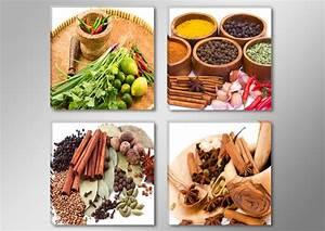 Leinwandbilder Für Küche : bilderset 4x 30x30cm leinwandbilder k che markenware visario blitzversand 6609 ebay ~ Indierocktalk.com Haus und Dekorationen