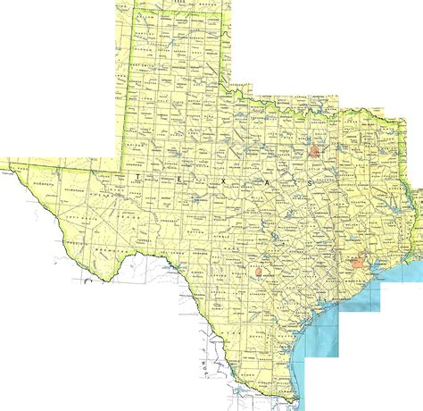 detailed map  texas state  state  texas detailed