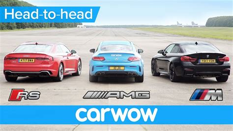 New Audi Rs5 V Bmw M4 V Mercedes-amg C63s Drag And Rolling
