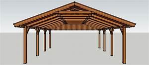 Einfahrtstor Selber Bauen : carport 6 x 7 meter mit satteldach aus holz zum selber ~ Lizthompson.info Haus und Dekorationen
