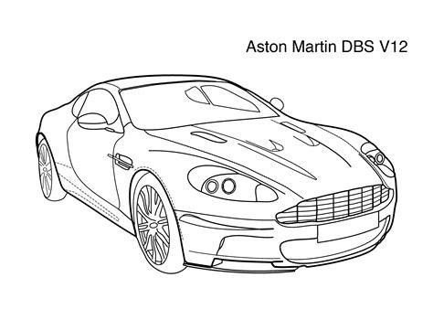 Aston Martin Coloring Pages - Democraciaejustica