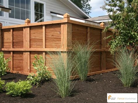 privacy fence design this is the view of this custom wood privacy fence style from outside the fence modern