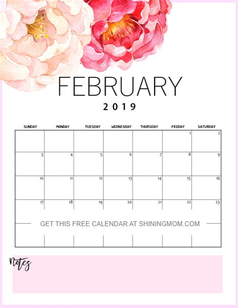 printable february calendar planners awesome designs