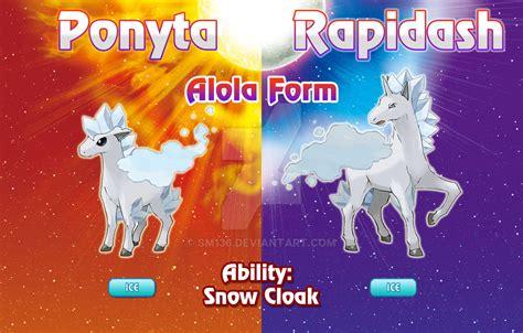 ponyta  rapidash alola forms  sm geek obrazy