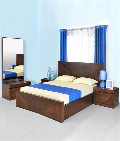 athome nixon solid wood storage king size bedroom set buy