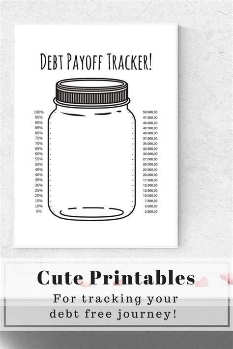 amazingly cute mason jar printables  tracking  debt