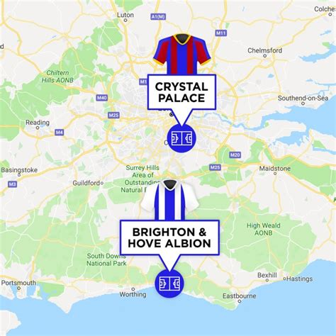 The M23 Derby: Crystal Palace v Brighton & Hove Albion ...